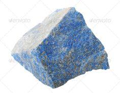 Mineral collection: Lapis lazuli. (blue, close-up, closeup, decorate, decorative, expensive, flinty, gem, geology, gravel, isolated, jewelry, lapis, lapis lazuli, lapislazuli, lazuli, macro, mineral, nature, rock, semi-precious, semiprecious, splinter, stability, stone, Studio Shot, white background)