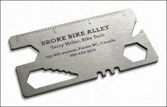Bicycle Repair Tool Business Card