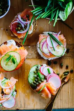 Why are bagels, cream cheese and salmon the perfect food?