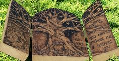 salix pyrography | Gallery - would like to try something like this with the ten commandments for my daughter