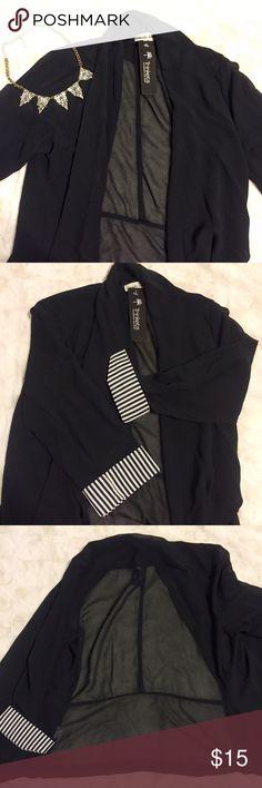 Black Blazer | Boutique Black blazer - double zero brand - Small - Black - Sheer back  - Striped sleeves Boutique Jackets & Coats Blazers