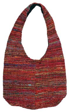Recycled Handspun Silk Shoulder Bag Purse Handbag From Nepal