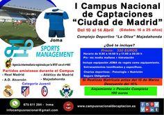 Nuevo campus de captación Ciudad de Madrid de JEP Sports Management https://campusdefutbol.jimdo.com/
