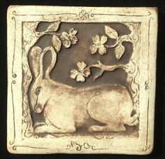 Rabbit Tile. Made to order. by agapanthertiles on Etsy, $30.00