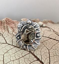 AMMONITE RING, Fossil Ring,Statement Ring, Handcrafted Ring, Gemstone Ring, Artisan Ring, Silver 925 Ring by AlenaZenaJewelry on Etsy