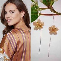 Sterling Silver & Gold Cherry Blossom Earrings#sterlingsilver#blossoms #springtime