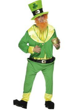 Déguisement Saint Patrick, Tout le folklore de l'Irlande dans ce costume de Saint Patrick ! Tenue verte, barbe rousse et chapeau orné d'un trèfle, symbole de Saint Patrick, vous voilà équipé pour la fête éponyme. Que vous soyez irlandais ou pas, vous apprécierez ce personnage sympathique et populaire. Sainte (santé) !