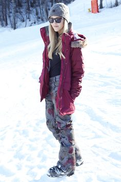 So adorable! I need new skiing gear since min are from freshman year of high school...yikes! (jacket Roxy, pants Roxy, beanie Roxy, shirt Theory, sunnies Westward Leaning)