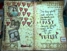 As promised, this year I'm going to follow along with the Tim Holtz tags of 2016 but recreate them art journal style. This month there is some stencilling (a...