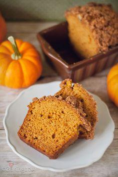 Pumpkin bread w/ cinnamon pepita topping.  I'm ready to do some Fall baking!