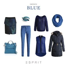 Dark, mysterious yet strikingly beautiful - trend styles in blue are setting the tone right now! #travel #Esprit