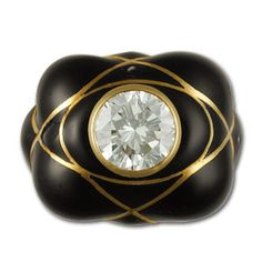 Rings Ladies David Webb high design diamond ring in 18k and black enamel Gray Sons is a Used and Preowned Watch Jewelry Watchwinder Dealer Pre owned Watches a Specialty - Stylehive