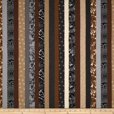 Stripes Brown/Gray/Multi - by Laura Berringer for Marcus Fabrics