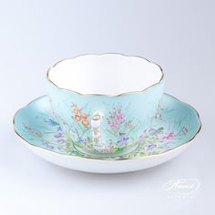 Herend Porcelain Tea (Coffee) Cup with Saucer – Herend Four Seasons pattern. You will receive the followings: 1 pc – Tea Cup – vol 2,0 dl (6,7 OZ) 20730-2-00 QS1 pc – Saucer – diam 14,5 cm (5,7″D) 20706-1-00 QSTotal: 2 pieces Herend porcelain items  Four Seasons (Quatre Saisons) pattern is one of the most requested decors.Four Seasons-QS pattern is painted …