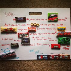 For dad, papa for #fathersday #birthdays for anyone really with a sweet tooth. #candycard idea.