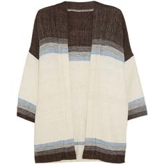 LemLem Debizaza striped cotton, merino wool and mohair-blend cardigan (2.015.550 IDR) ❤ liked on Polyvore featuring tops, cardigans, multi, colorful tops, merino cardigan, merino wool tops, loose cotton tops and multi colored cardigan