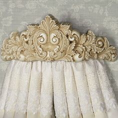 Natasha Wall Teester Bed Crown in Antique Ivory, Aged Brown, or Antique Gold Bed Crown Canopy, Canopy Curtains, Canopy Bedroom, Fabric Canopy, Diy Canopy, Canopy Tent, Master Bedroom, Bed Canopies, Balloon Curtains
