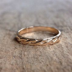 Gold Infinity Ring, 14K Gold Fill, Gold Stacking Ring, Stackable Rings, Pattern Ring, Bohemian Ring, Bohemian Jewelry by TesoroDelSol