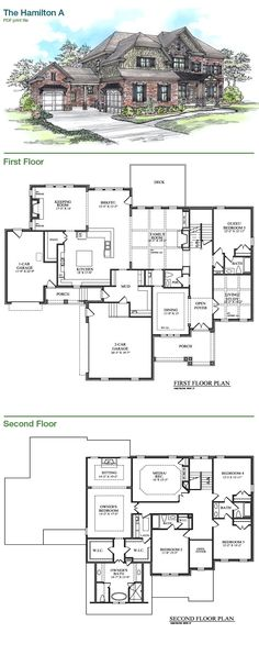 Bercher Homes | The Hamilton A Plan