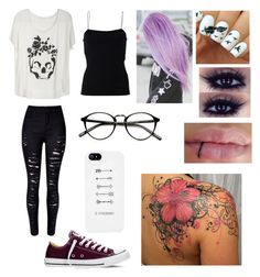 """""""Concert"""" by foreversandalways on Polyvore featuring WithChic, T By Alexander Wang and Converse"""