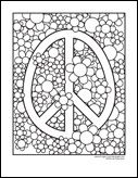 peace sign floral background