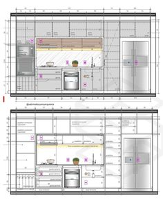 How to design your kitchen design in a thematic area – lamp ideas Modern Kitchen Interiors, Modern Kitchen Design, Home Decor Kitchen, Autocad, Casa Bunker, Kitchen Elevation, Layout Design, Kitchen Design Software, L Shaped Kitchen Designs