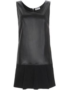 Stunning black leather dress from Borne by Elise Berger