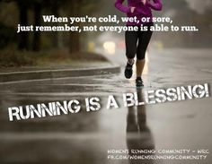 Running is a blessing