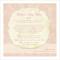 Bellini Mothers day mini session