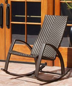 Take a look at this Barcelona Woven Outdoor Rocker on zulily today!