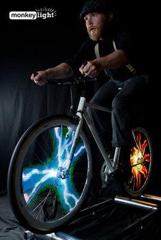 Monkey Light: LED Bike Wheels Plays Animated GIFs