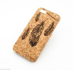 CORK CASE FEATHERS IPHONE COVER