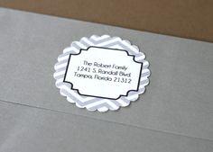 Free Printable  Editable Wrap Around Chalkboard Return Address