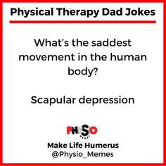 Luckily my levator scapulae friend can lift you up. 👆🏼 Follow ➡️ @physio_memes Dad Jokes, Funny Jokes, Physical Therapy Quotes, Healthcare Memes, Physics, Wisdom, Thoughts, Board Ideas, Words