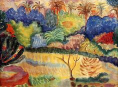 Paul Gauguin (French: 1848 – 1903)   Tahitian Landscape, 1897