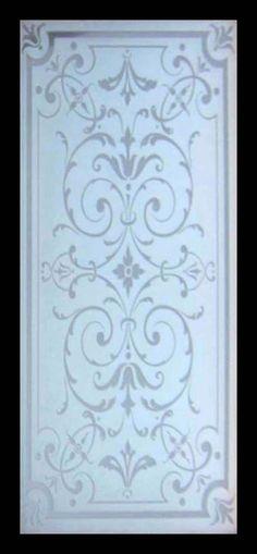 Stunning Etched Glass Victorian Beauty Window in Mahogany Frame Etched Glass Windows, Etched Glass Door, Sliding Glass Door, Glass Etching, Stained Glass Art, Stained Glass Windows, Single Patio Door, Wooden Window Blinds, Antique Door Knobs