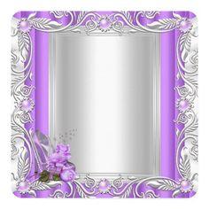 Princess Quinceanera 15th Birthday Purple Rose Card