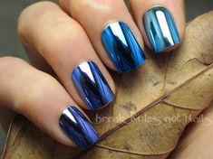 Blue Chrome Ombre by brkrulesntnails from Nail Art Gallery