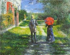 Rising Road - Gustave Caillebotte, 1881