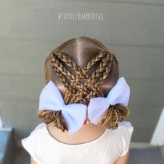 """636 curtidas, 20 comentários – Cami Toddler Hair Ideas (@toddlerhairideas) no Instagram: """"This style is an old favorite, it's been about a year since I did it last, I wanted to do it again…""""  #hairstyles #hair #hairstylesideas"""