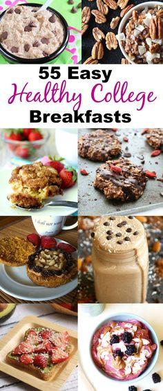 55 Healthy College Breakfast Recipes