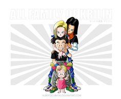 All family of Krilin add A17 by albertocubatas