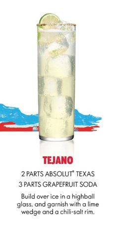 Absolut Texas Tejano Grapefruit