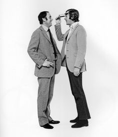 Michael Caine and Douglas Hayward, 1971.