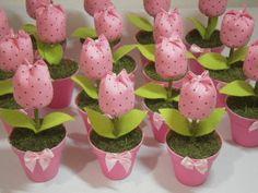 Resultado de imagem para lembranca bebe tulipa