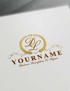 Make logo online Royal Laurel Wreath Logo Template Free Letters Logo Maker Create your own Online With Free Logo Maker Monogram Logo, Monogram Maker, Vintage Logo Maker, Letter Logo Maker, Logo Maker Software, Alphabet Logo, Logo Creator, Text Maker, Logan