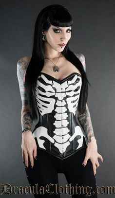 Skeleton Corset   $137 Little steep, however, am so in love.... I'll end up getting this for myself :p