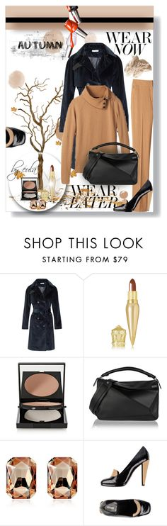 """Summer to Fall"" by eula-eldridge-tolliver ❤ liked on Polyvore featuring Lacava, Tomas Maier, Per Se, Christian Louboutin, Le Métier de Beauté, Loewe, Dsquared2 and Fendi"