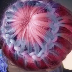 Pastel Crown Braid