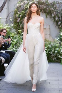 6c8dad0e7f51 wear trousers to your wedding Confetti Monique Lhuillier Bridal 2017, Wedding  Dress Trends, Spring